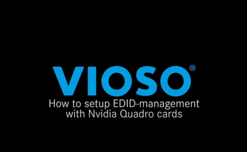 Tutorial: Using NVIDIA EDID Management